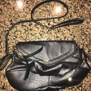 Black Leather Juicy Couture Cross Body